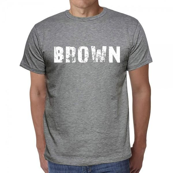#brown #word #tshirt #men #grey  Say hello to t-shirt season! Get yours here --> https://www.teeshirtee.com/collections/collection-5-letters-grey/products/brown-mens-short-sleeve-rounded-neck-t-shirt-3