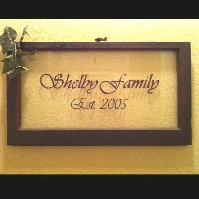 Old window sash turned into custom wall art! | Home sweet home ...