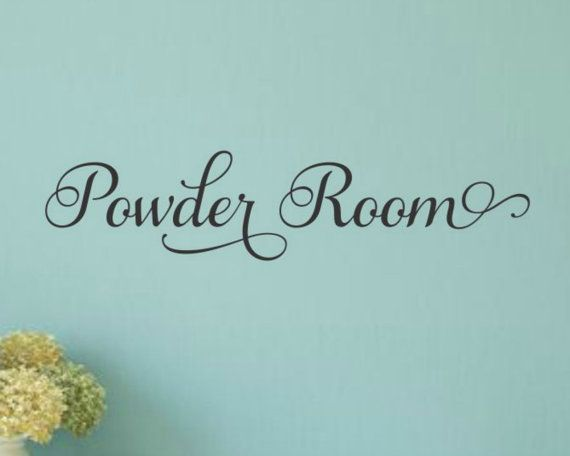 Powder Room Decal Powder Room Vinyl Bathroom Wall Decal Bathroom - Custom vinyl decal application instructionsapplication etsy