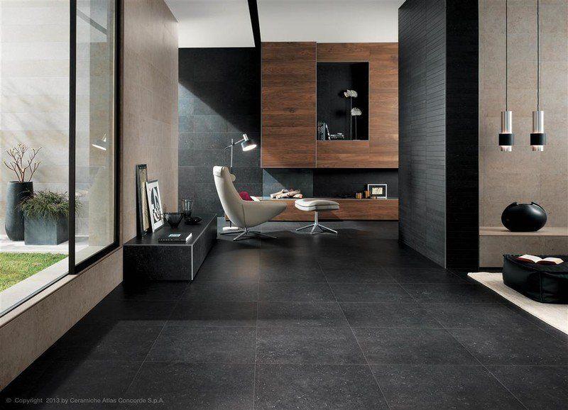 Zwarte Vloer Woonkamer : Vloer kiezen woonkamer donkere vloer belgisch hardsteen imitatie