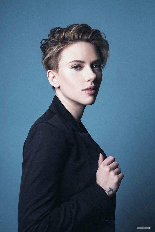 Scarlett Johansson Short Hair Styles Girl Hair Colors Short Hair Color