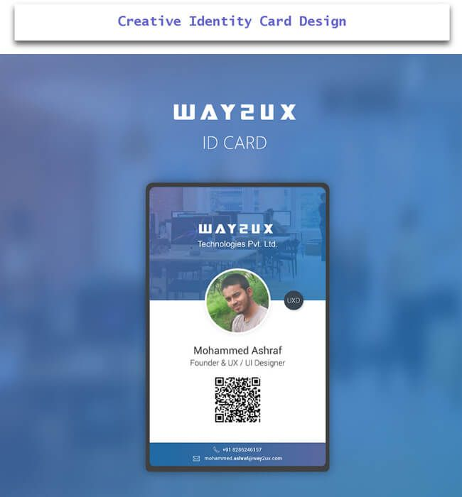 Creative Id Card Design Examples With Free Download  Creative