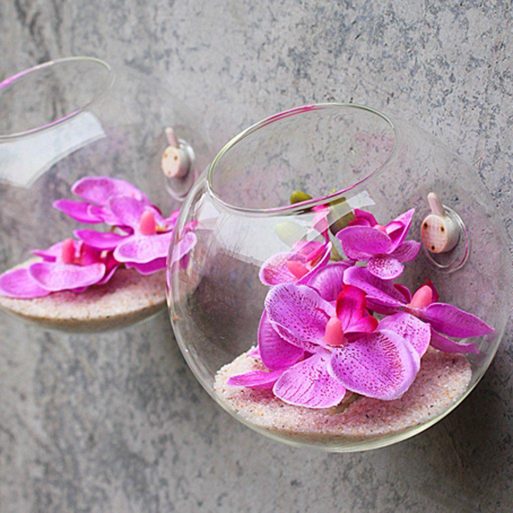vase mural suspendu en verre transparent pour plantes fleurs d coration de jardin maison amazon. Black Bedroom Furniture Sets. Home Design Ideas