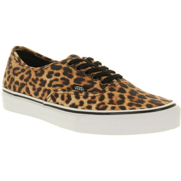 Vans Authentic leopard black brown exclusive ( 80) ❤ liked on Polyvore 1a764cfb8
