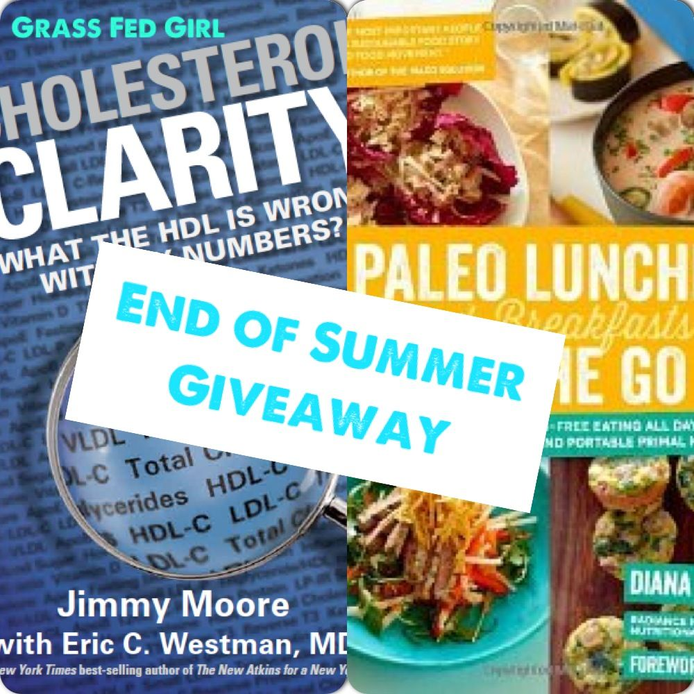 End of Summer Healthy Heart Paleo Giveaway: Cholesterol Clarity and Paleo Lunches and Breakfasts on the Go Review