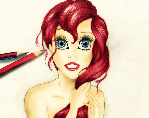 Ariel Drawings Tumblr 0218b9d5267771bd777d7bbafe1d ...