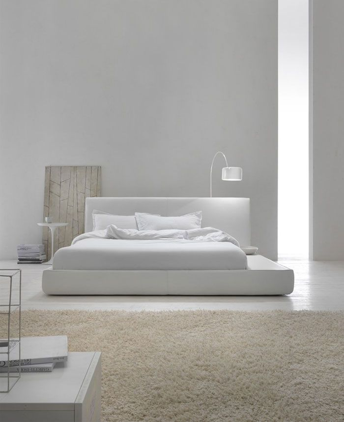 Modern Minimalist Bedroom Design Ideas: Snow White Contemporary Bedroom