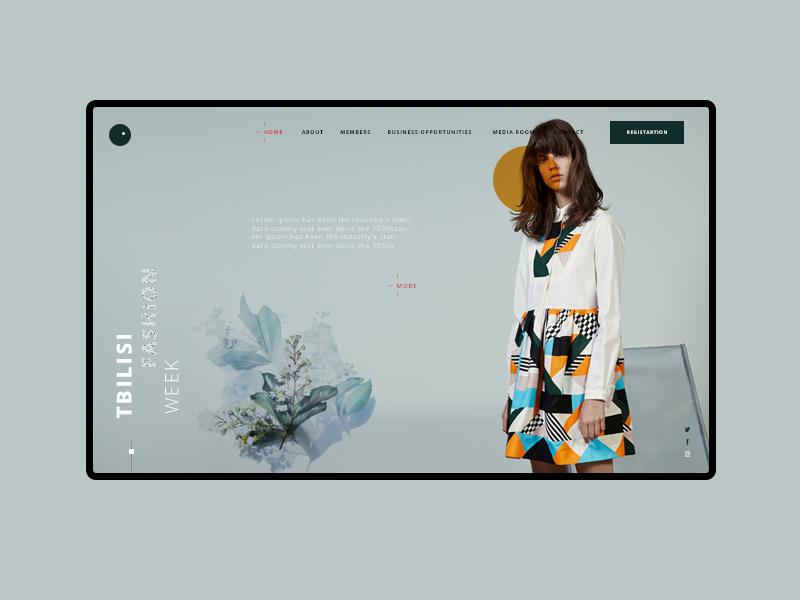 Fashion Week Clean Web Design Creative Website Design Web App Design