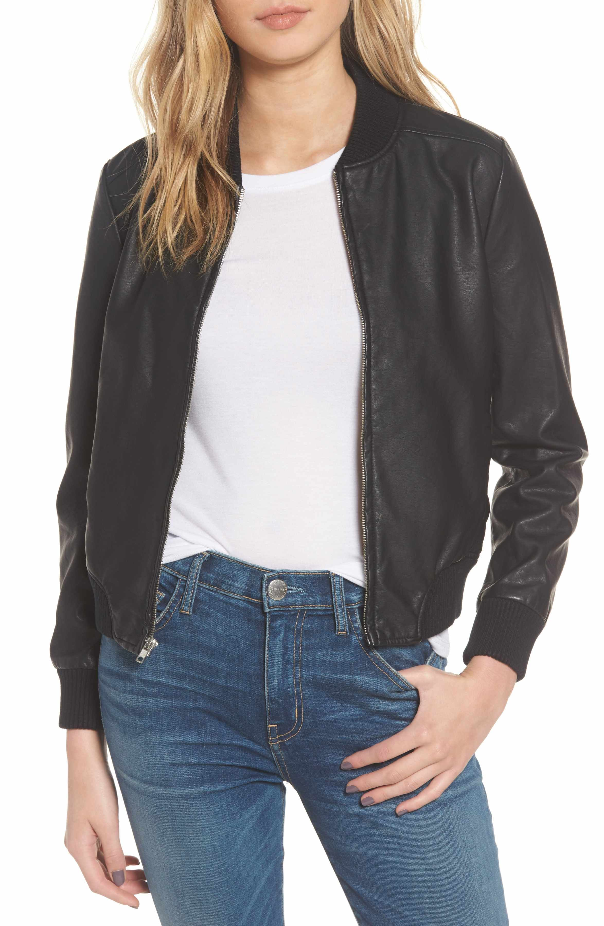 Bb Dakota Gavin Faux Leather Bomber Jacket Nordstrom Faux Leather Bomber Jacket Bomber Jacket Coats For Women [ 3600 x 2348 Pixel ]