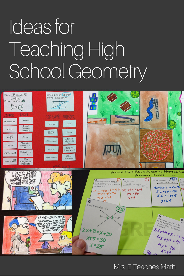 lots of free ideas for teaching high school geometry classroom teaching geometry geometry. Black Bedroom Furniture Sets. Home Design Ideas