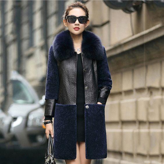 405f280e2479 Меховые пальто для женщин на 2017-2018 год  24 стильных варианта Кожаная  Куртка,