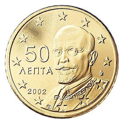 50 Cent Münzen Der Eu Länder Mdm Deutsche Münze Griechenland