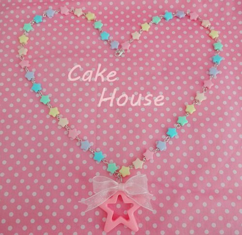 cake house Star Candy Necklace lolita / Harajuku / Zipper / nile perch-Taobao
