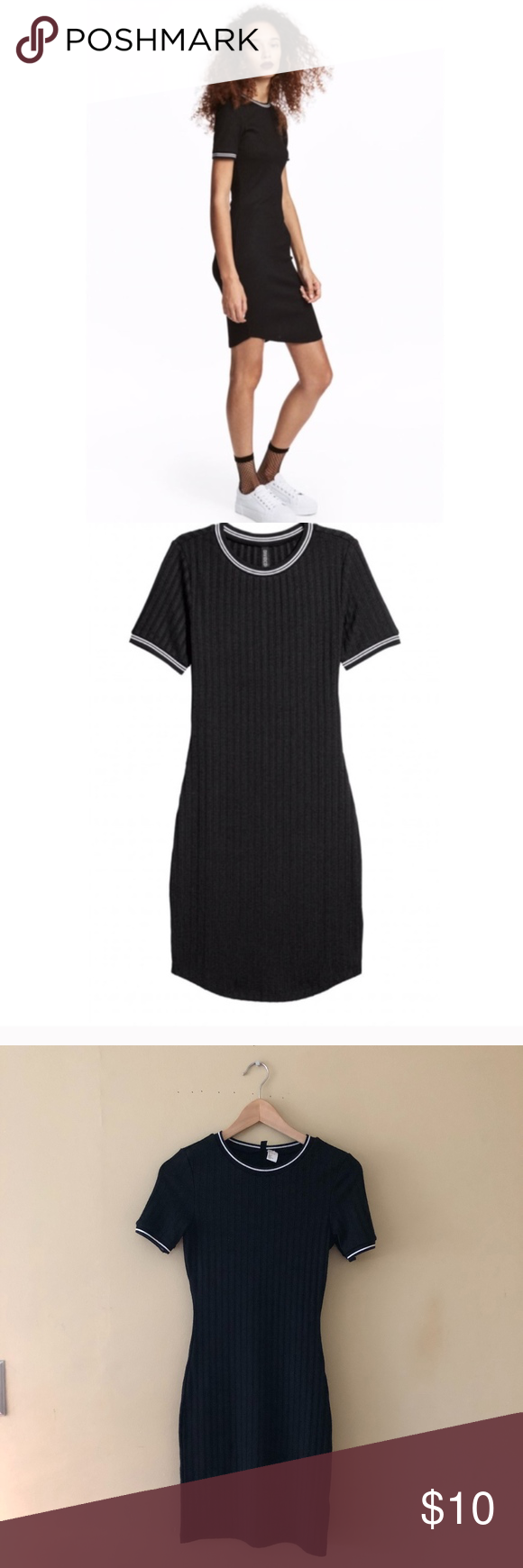 H&m ribbed bodycon dress sale outfits
