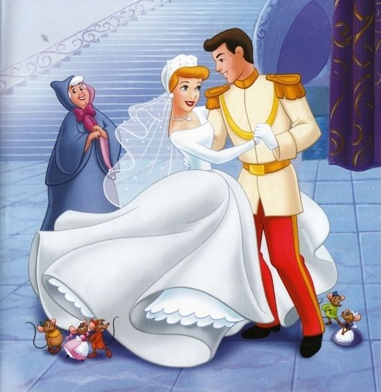 Cinderella Movie Wedding Gown And Prince Charming