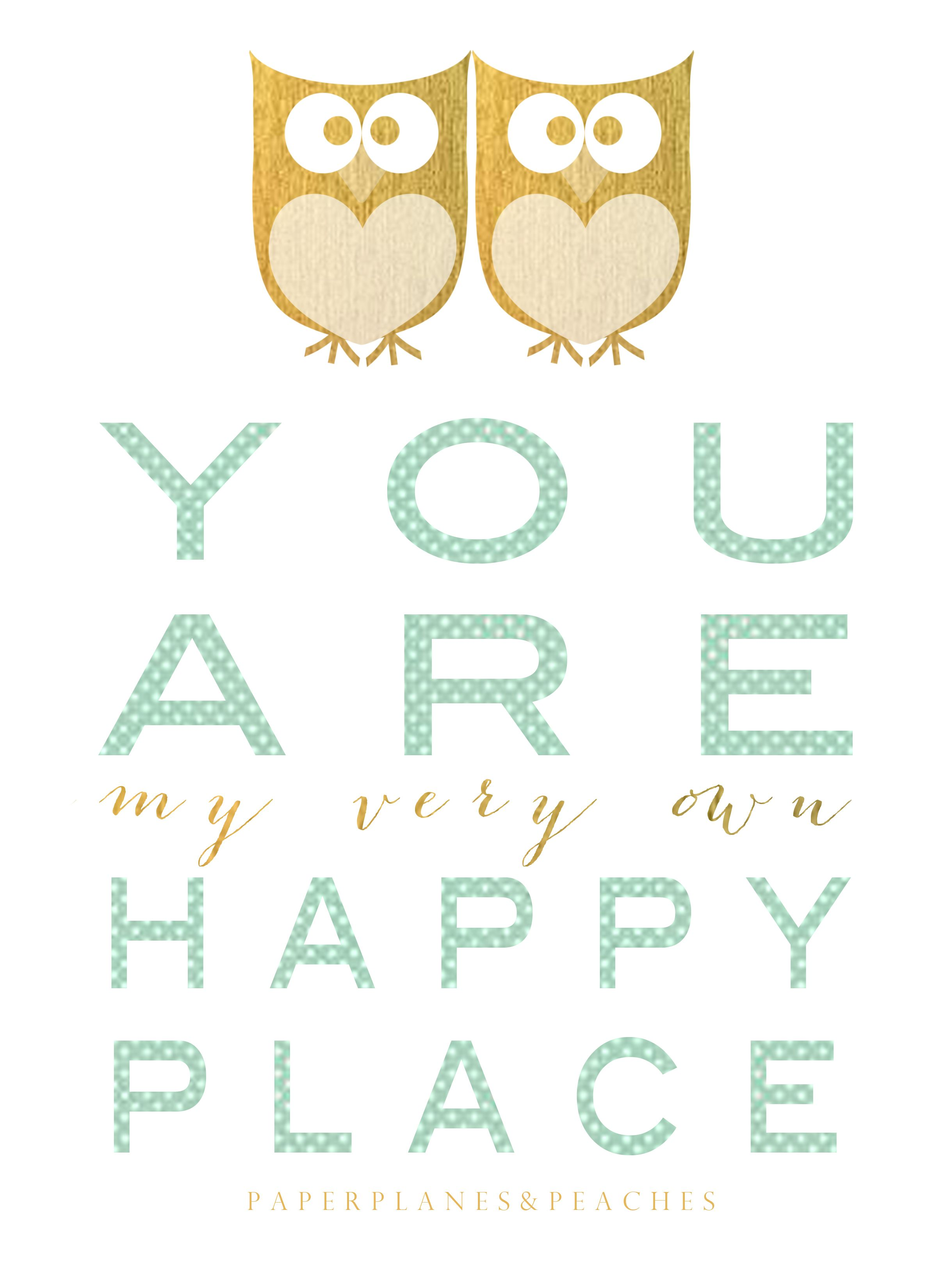 http www paperplanesandpeaches com free printable owls happy