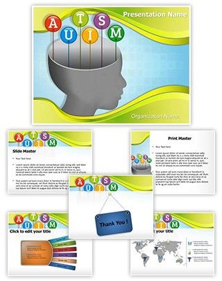 autism head powerpoint presentation template is one of the best