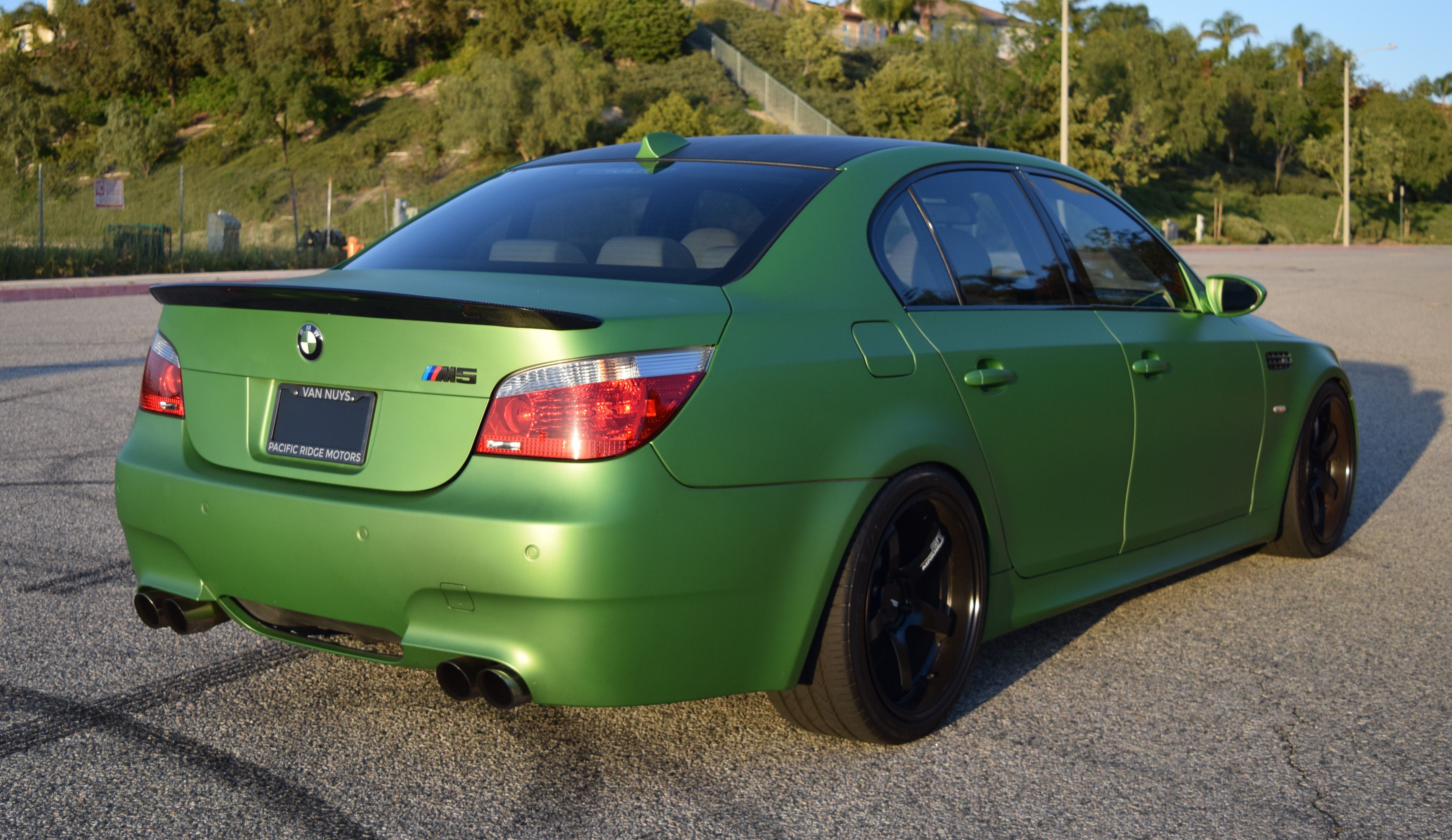 E60 Bmw M5 With 19 Inch Advan Wheels With Images Bmw Bmw M5 Car