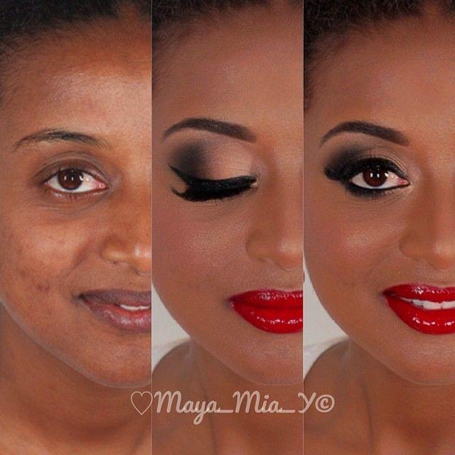 Famosos batom vermelho na pele negra fica um arraso! | Make up your life  HA03
