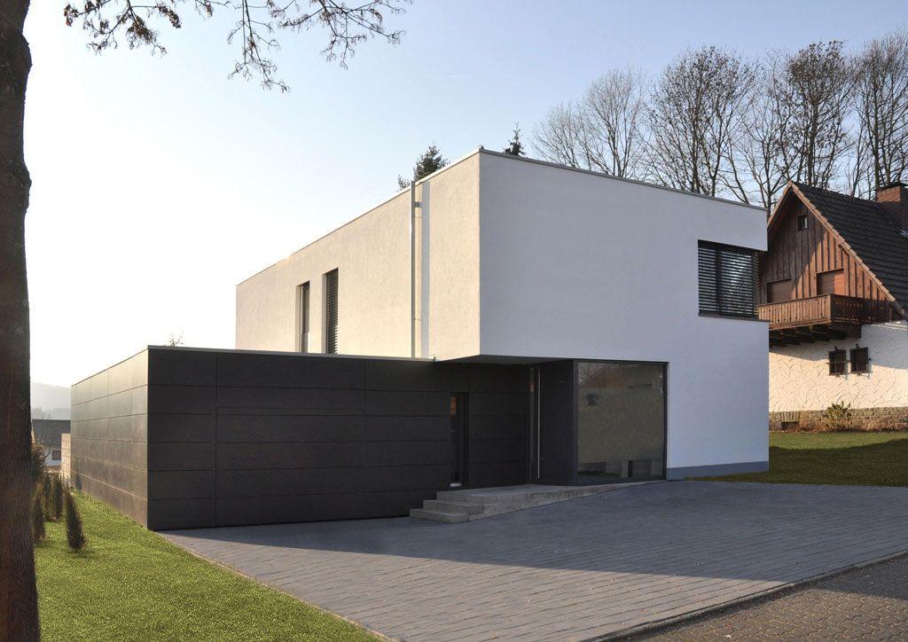 Fachwerk4 | Architekten BDA, Einfamilienhaus OE, Oberelbert, Straßenansicht