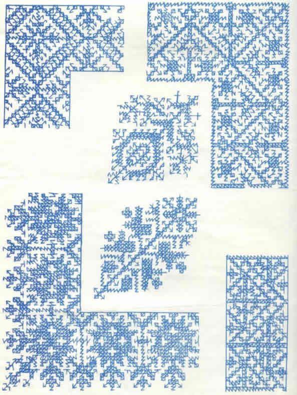 Patrones para bordar en punto marroquí | Manteles | Pinterest ...