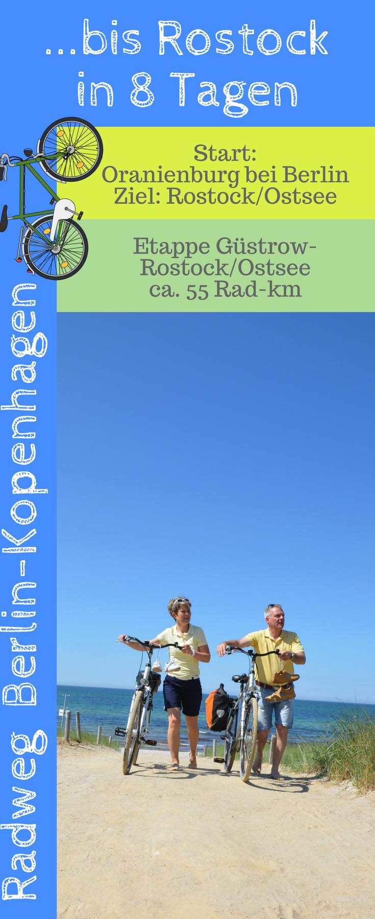 Die Letzte Etappe Auf Der Radroute Berlin Rostock Fuhrt Von Der