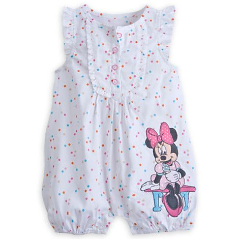 afbde186696 Minnie Mouse Romper for Girls