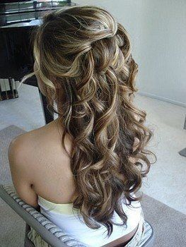 Great Way To Do 1 2 Up My Wedding Prom Hair Curly Bridal