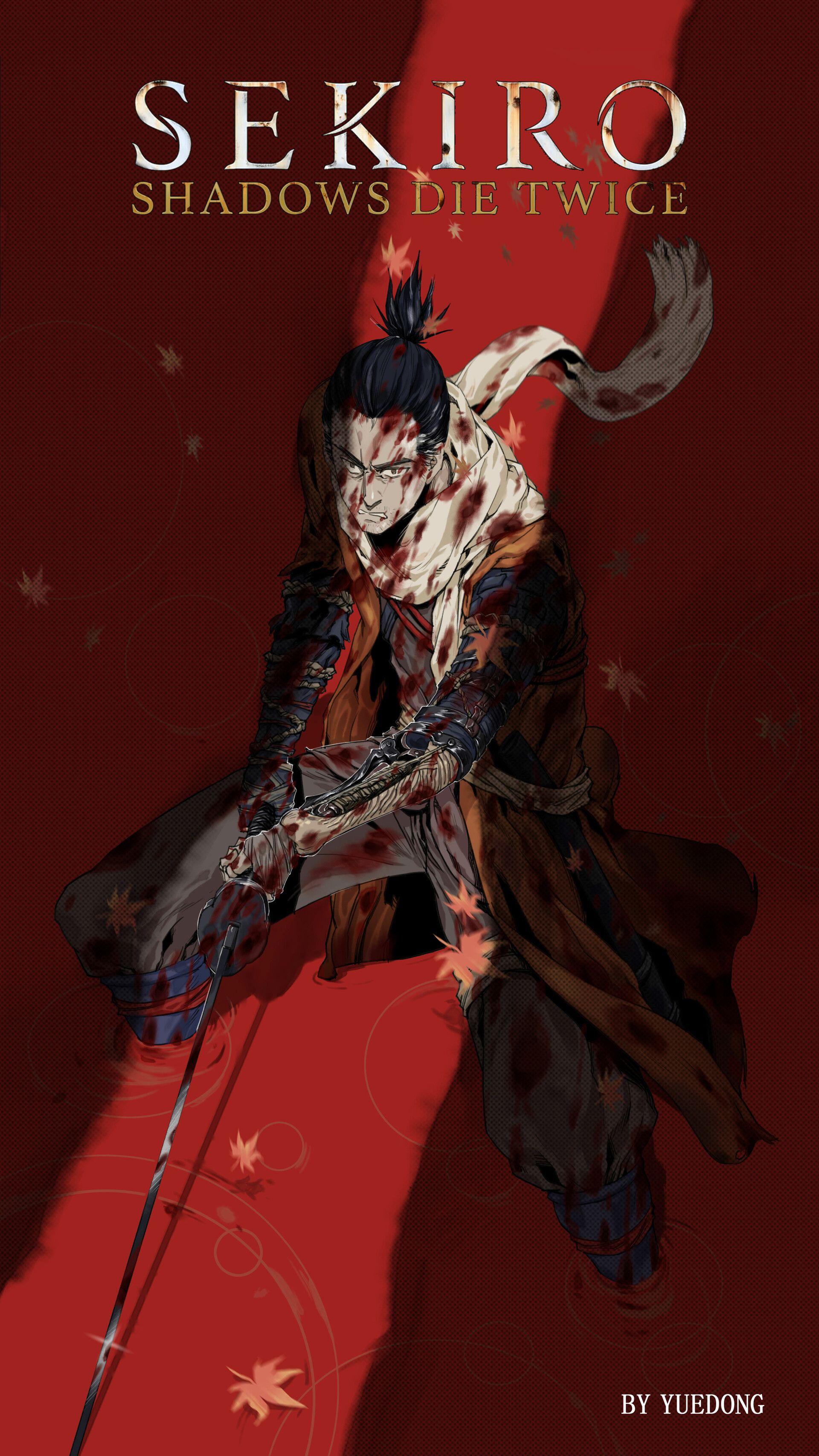 Artstation Sekiro Yuedong Yuedong Character Art Anime Dark
