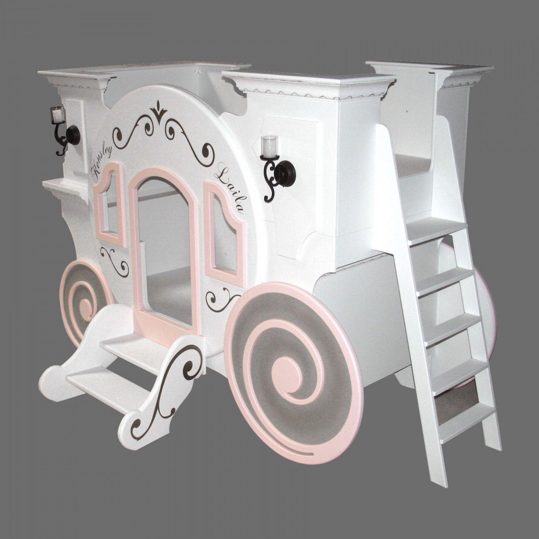 Princess carriage toddler bed - Princess Bed Home Cinderella Princess Carriage Bunk Bed