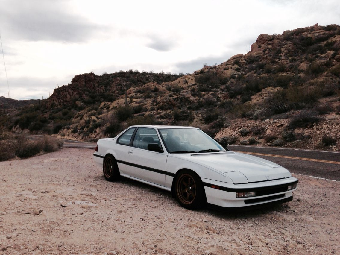 stanced 91 honda prelude si with bronze wheels my cars. Black Bedroom Furniture Sets. Home Design Ideas