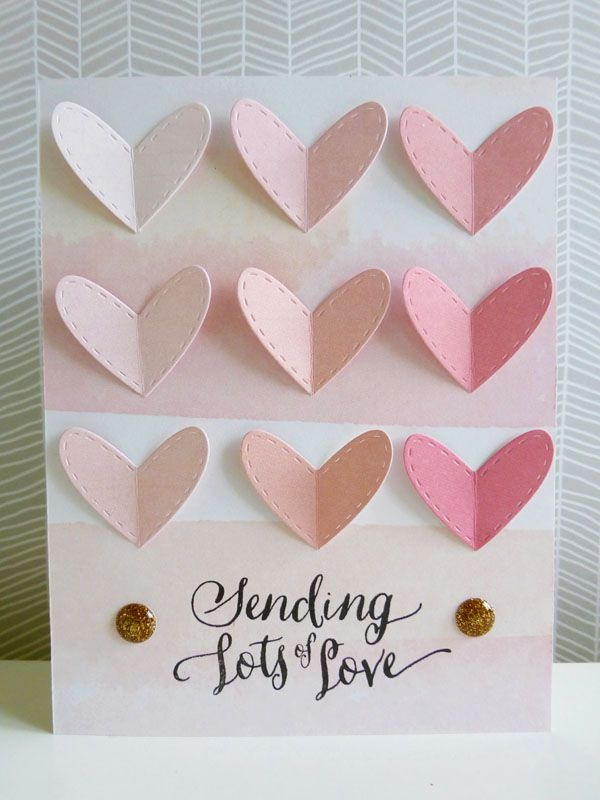 Love Card Making Ideas Part - 40: Crate Paper Kiss Kiss - Sending Lots Of Love Card
