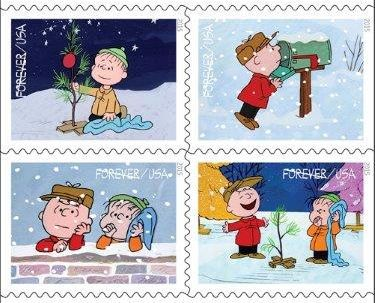 The 2015 USPS Christmas Stamps Will Celebrate 'A Charlie Brown ...