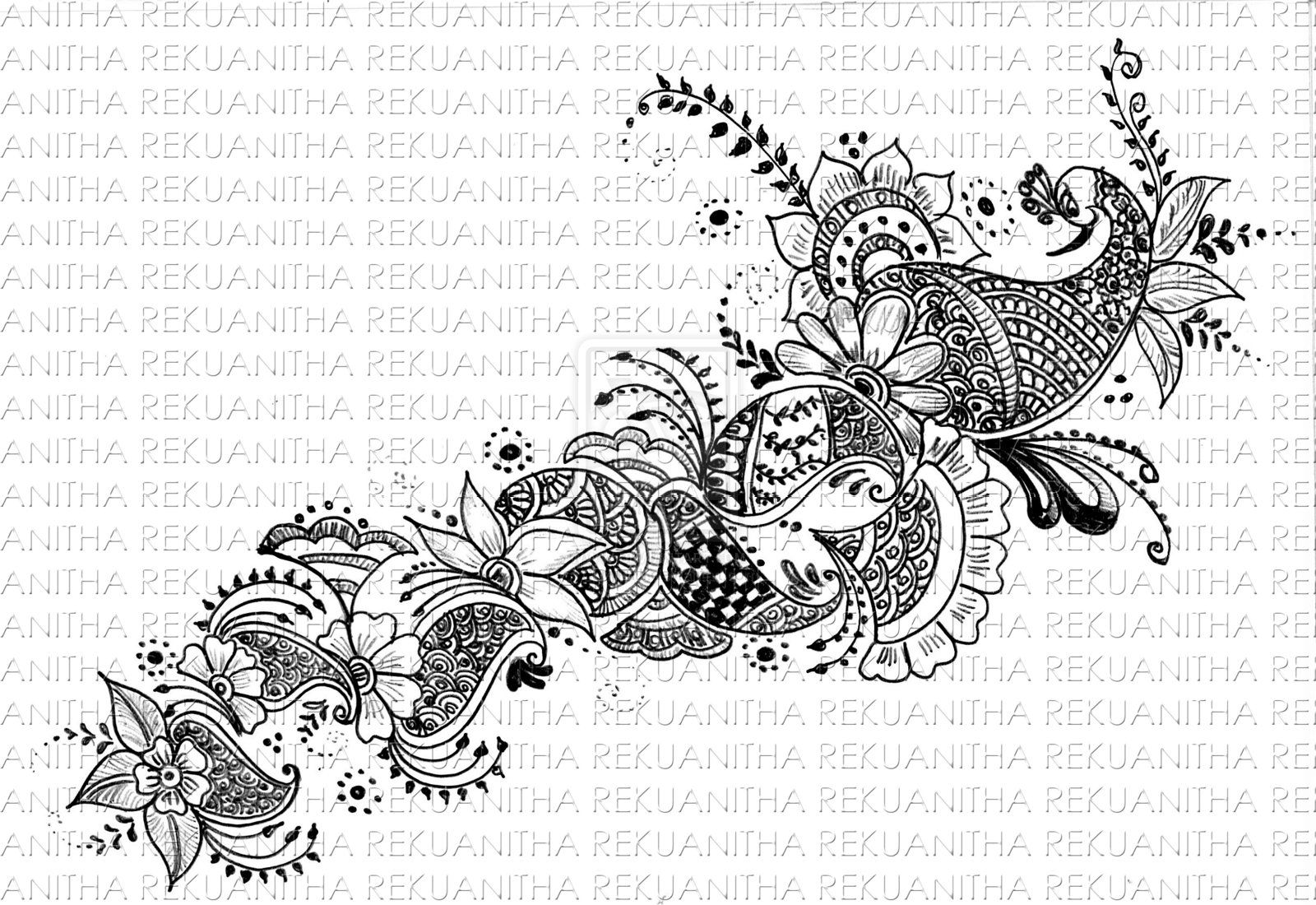 Simple Mehndi Patterns On Paper : Henna art on paper gallery