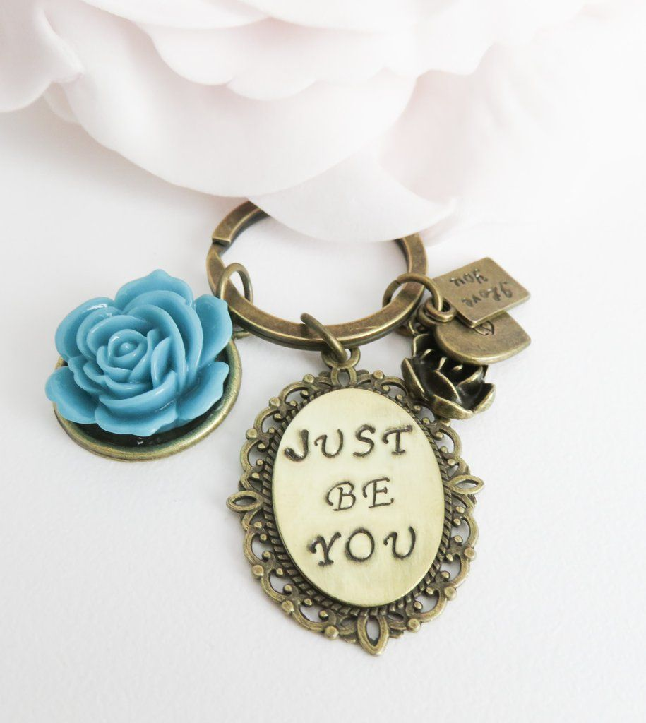Personalized just be you keychain inspirational gift fashion