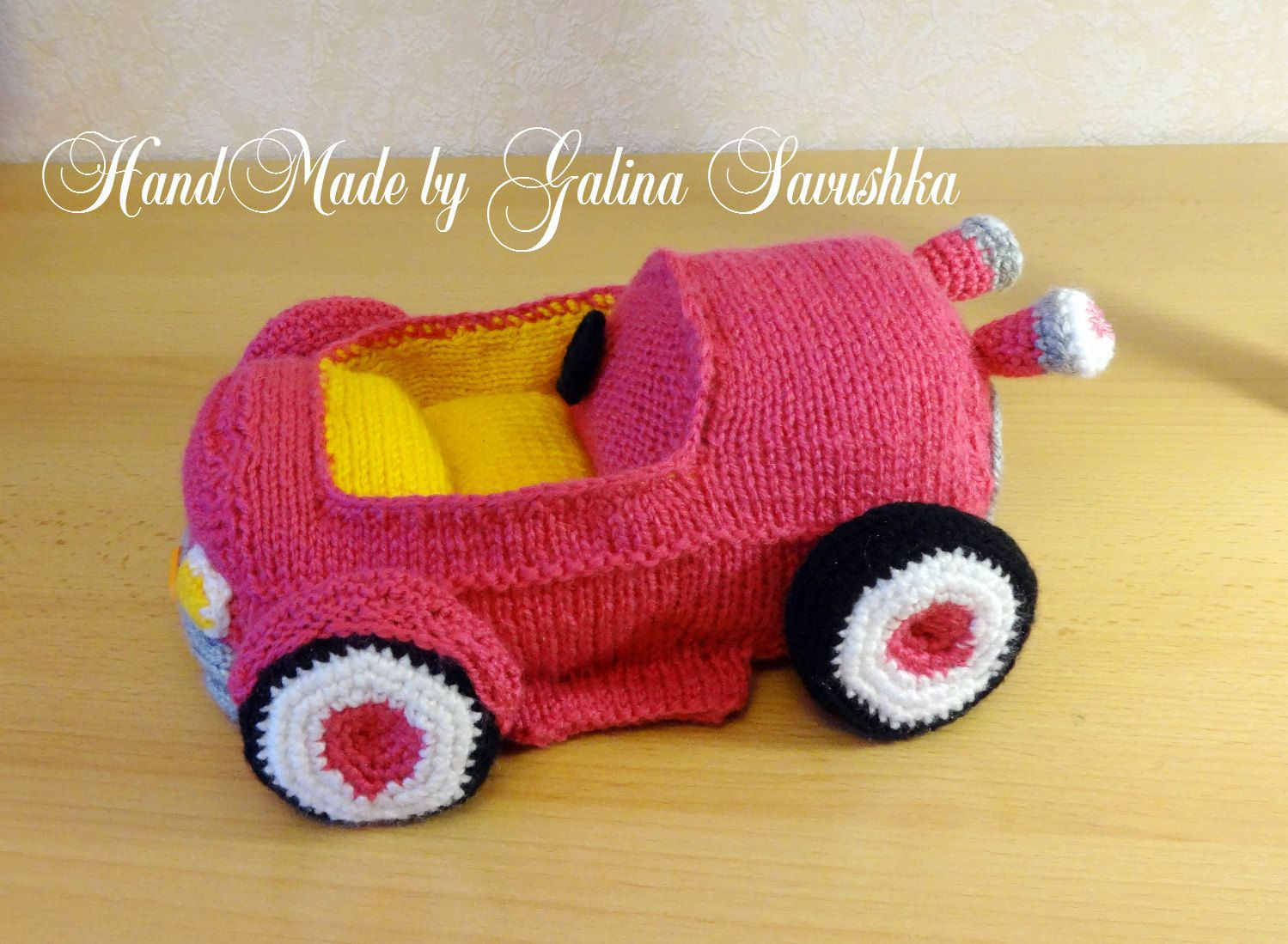 Toys images for boys  Carcabriolet knitted car Knitted Soft Toy Boys Soft ToysKids Room