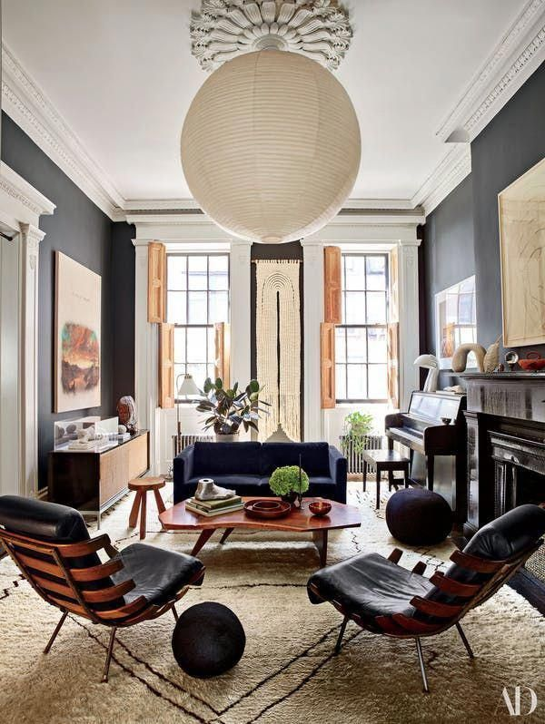 Design junkie julianne moore on why she flipped her nyc townhouse   floor plan architectural digest house decor ideas also best modern home interior images in rh pinterest