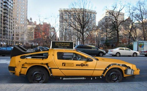 DeLorean Taxi in New York