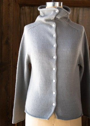 Top-Down Turtleneck Cardigan | The Purl Bee | Cardigans | Pinterest ...
