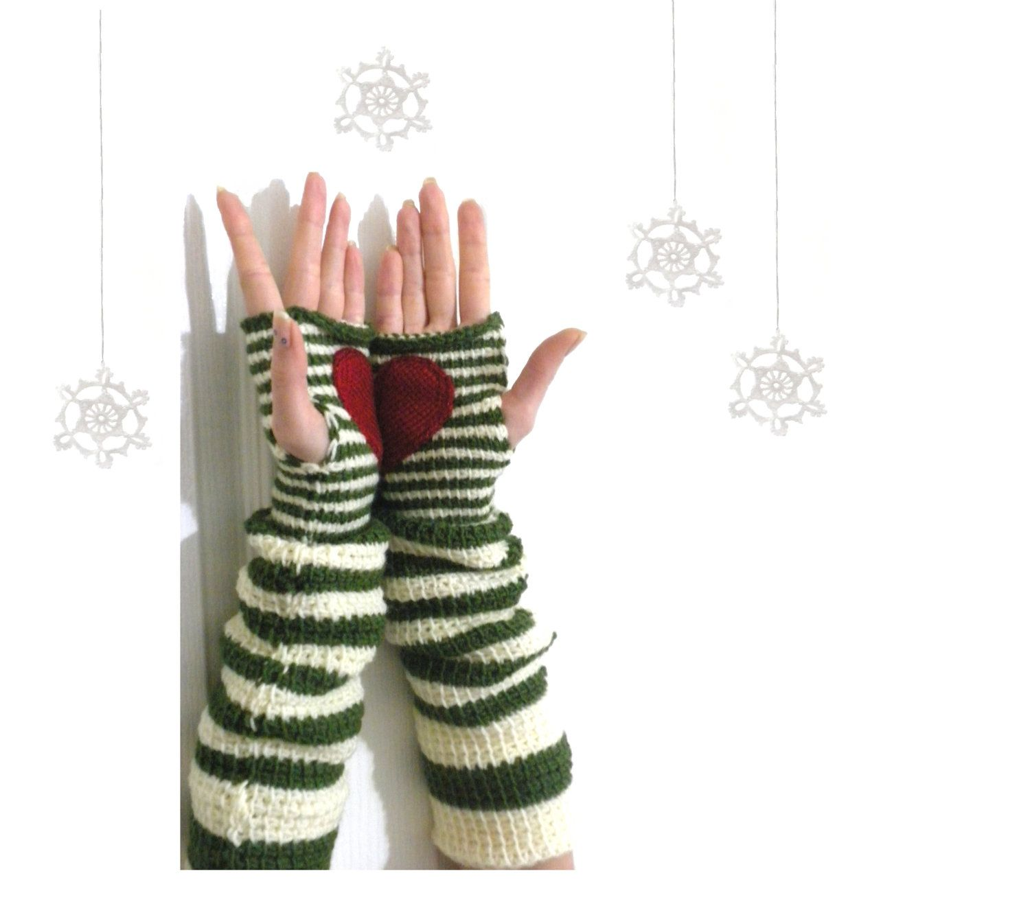 MADE to ORDER: Pippi\'s Gave U My Heart Wrist Warmers, Crochet ...