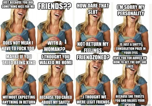 """the destruction of the ""friendzone fiona"" meme. take that, sexist nerd culture."" #niceguy #feminism"