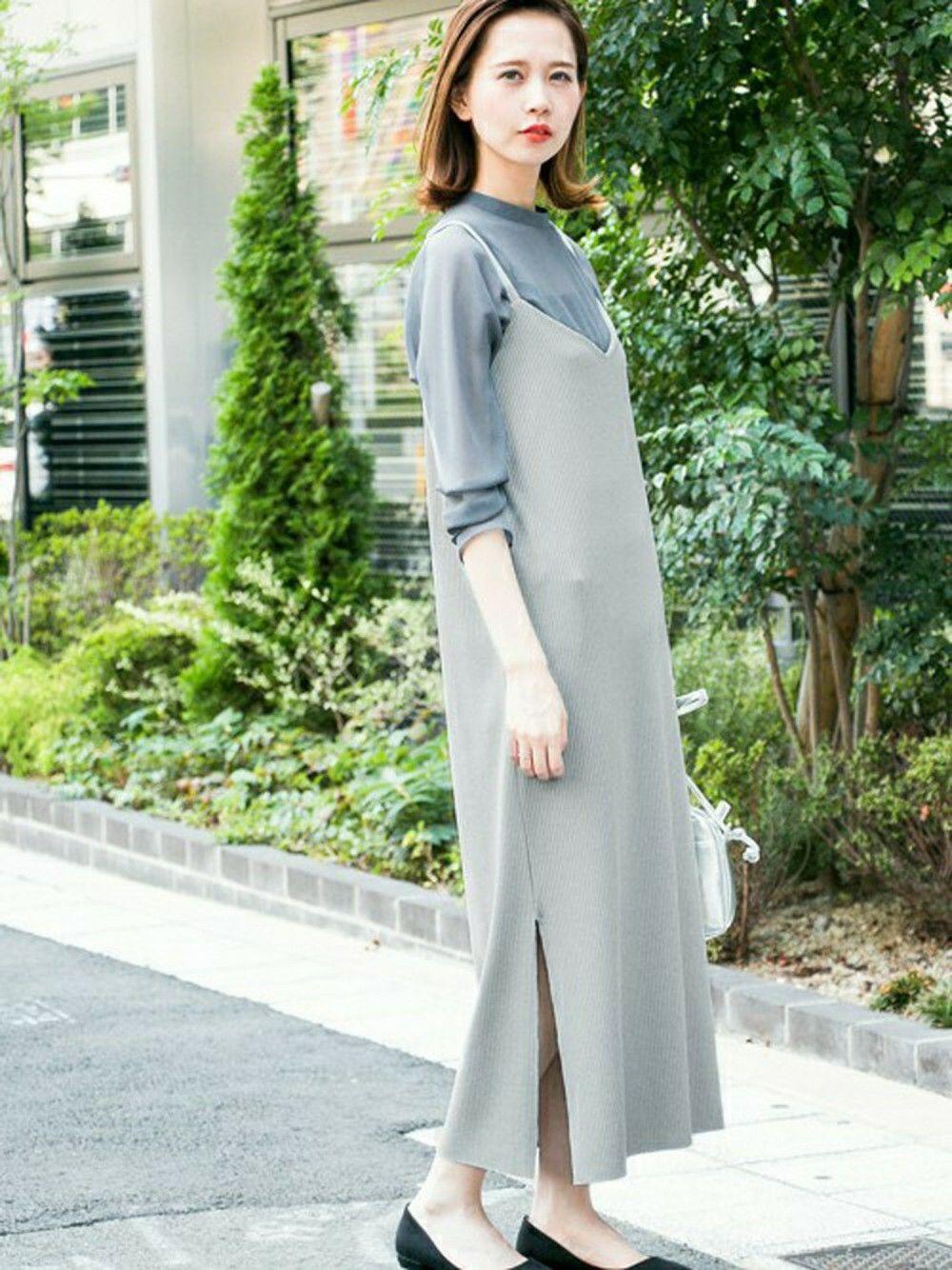 はれこさんの Kbf リブキャミソールロングワンピース Kbf を使ったコーディネート ファッション ファッションアイデア ワンピース