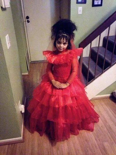 Beetlejuice Lydia Deetz Little Girl Dresses Beetlejuice Halloween Costume Halloween Queen