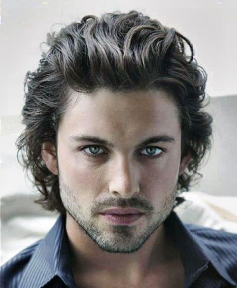 Men With Curly Haircuts For Thick Hair Flirty Wavy Hairstyles For Men Hairstyles 2017 Hair Colors And Haircut Wavy Hair Men Curly Hair Men Mens Hairstyles
