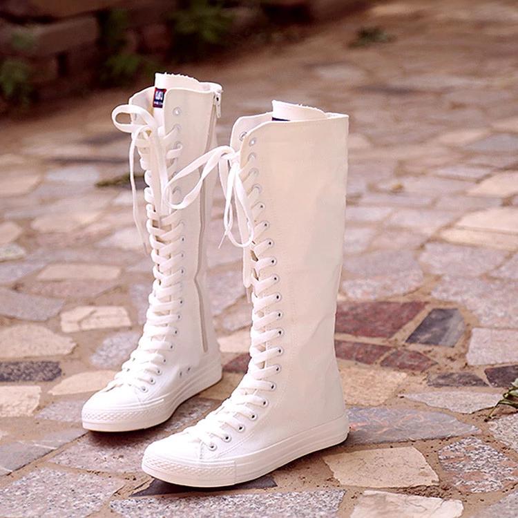 Korea Zipper Canvas Boots Se8390 Canvas Boots Boots Casual Boots