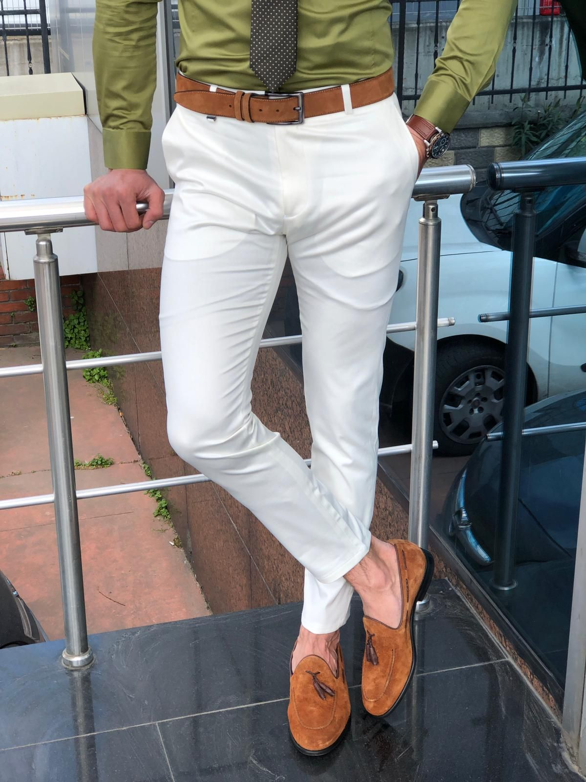 Buy Ecru Slim Fit Cotton Pants By Gentwith Com With Free Shipping Slim Fit Dress Pants Men Slim Fit Cotton Pants White Pants Men [ 1600 x 1200 Pixel ]