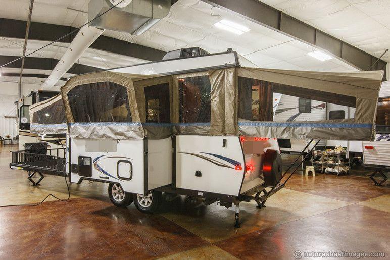 2014 Pop Up Toy Hauler Travel Trailer RV HW31SCTH | Camping