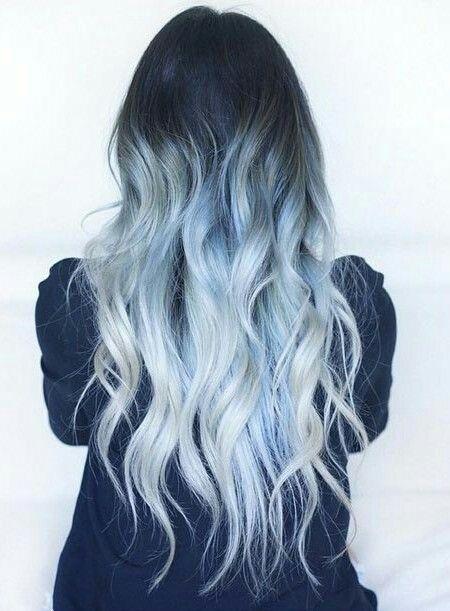 Pastell Ombre Haare Hair 3 Haarfarben Blaues Ombre Haar Blaue