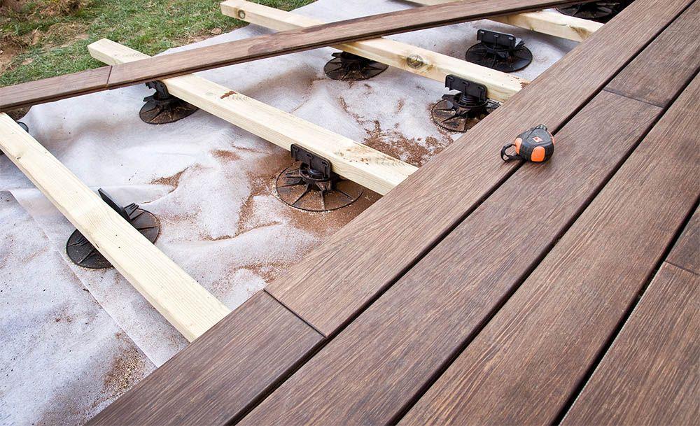 Pour une terrasse sur lambourdes ou en dalles, quel est le nombre de