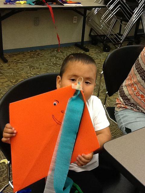 Kite made at Rockwood Library.